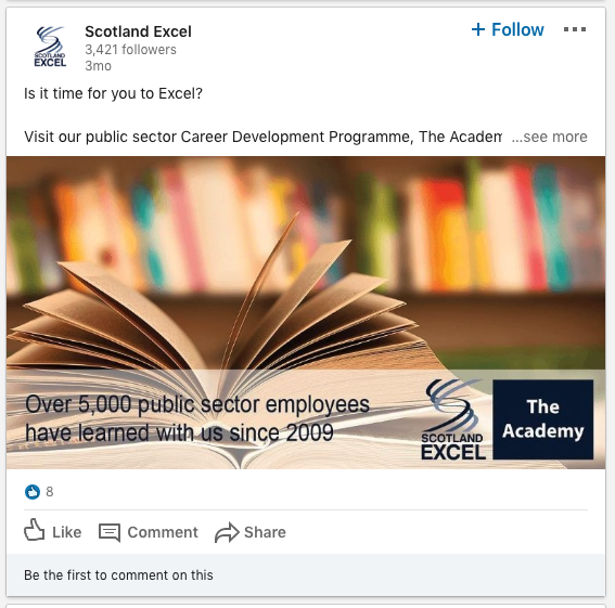 Scotland Excel on Linkedin